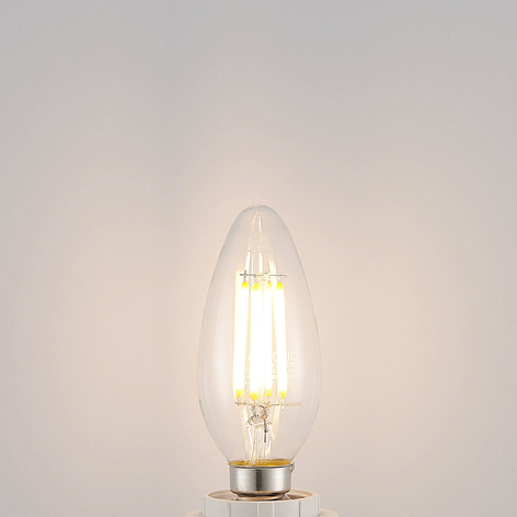 Lampadina LED E14 filamenti 4W 2.700K e dimming