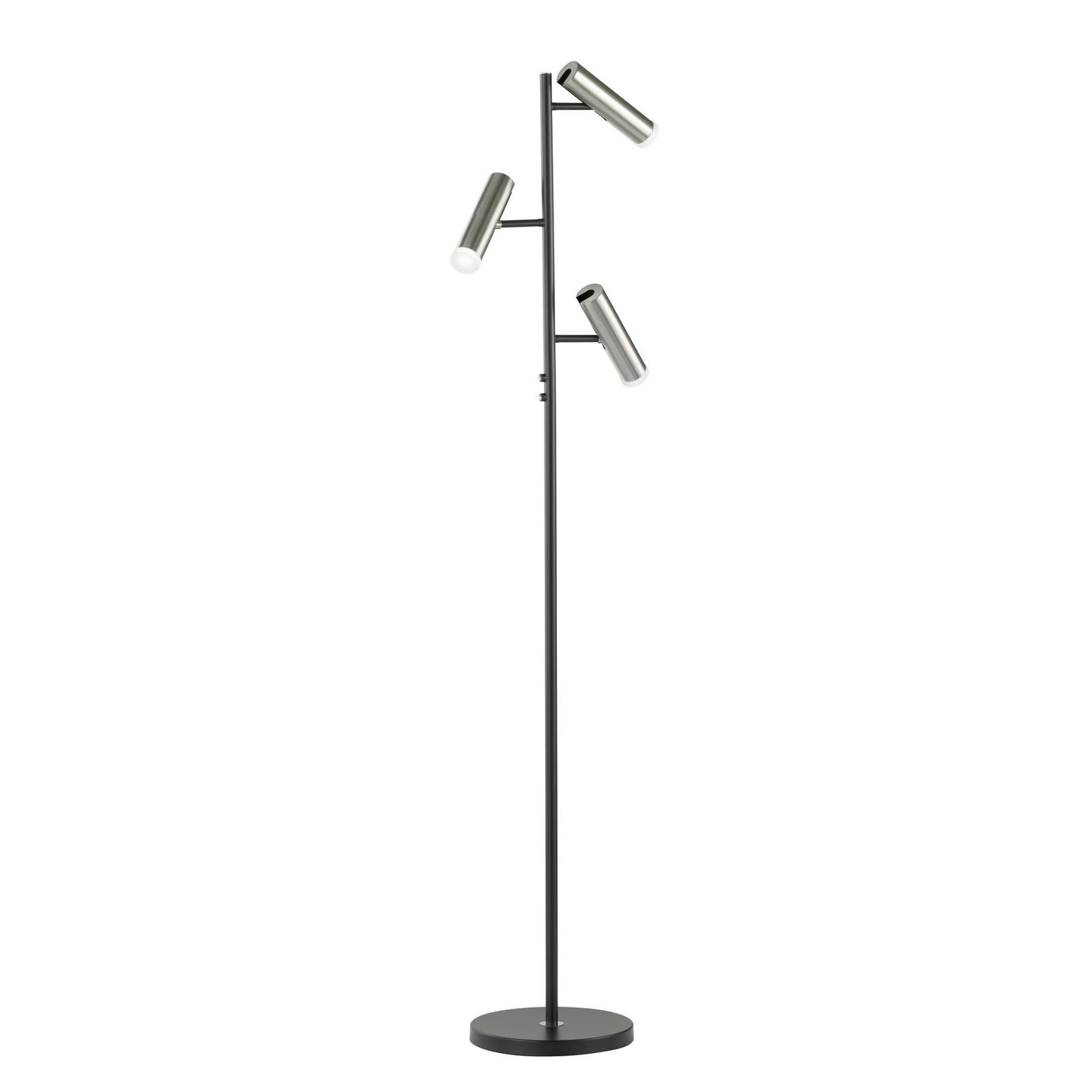 Lámpara de pie LED Z-Ronja 3 luces, apta ZigBee