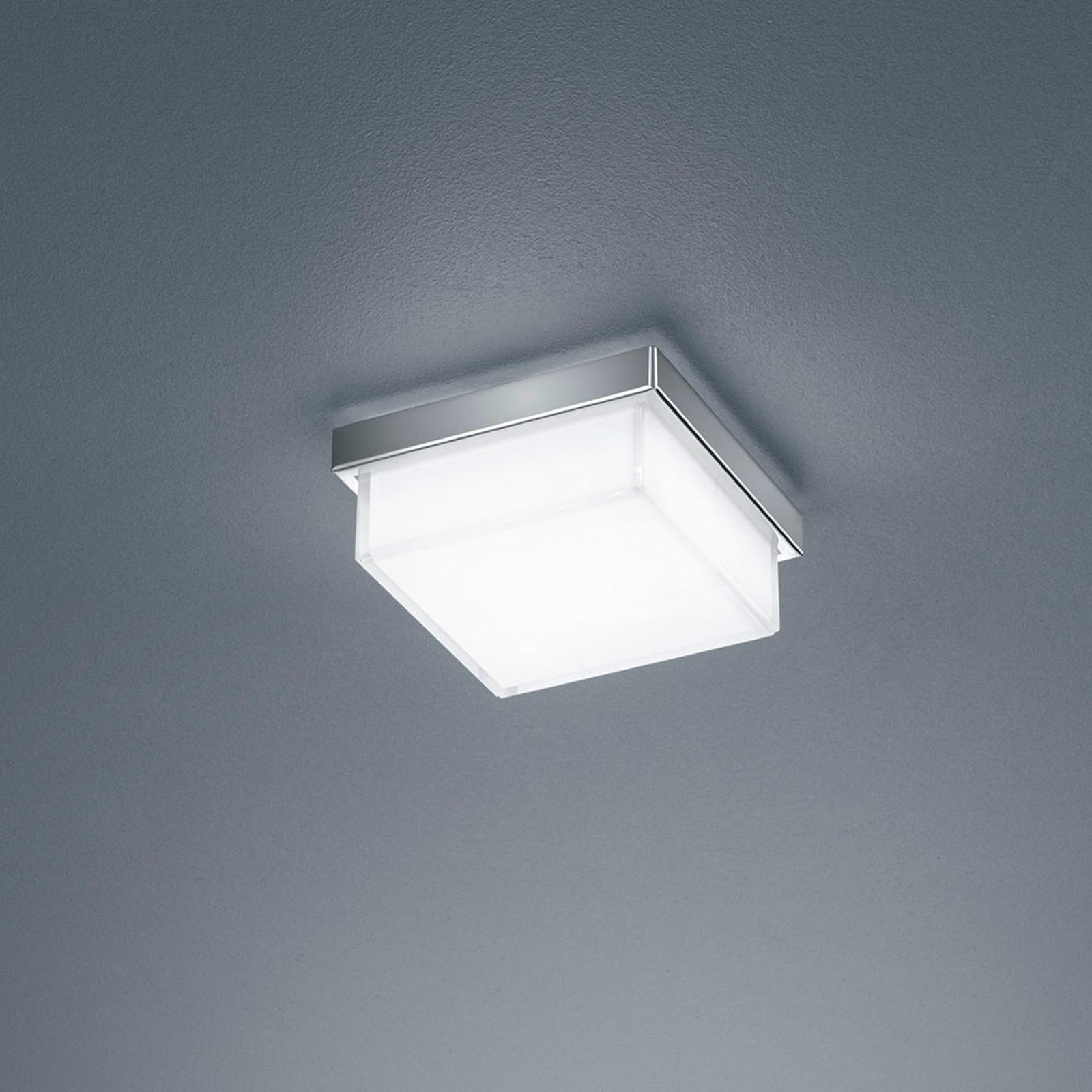 Helestra Cosi plafonnier LED chromé 11x11cm