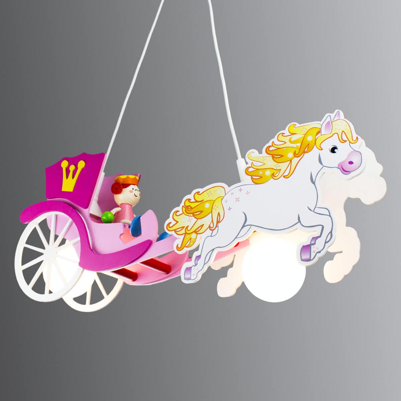 Hengelampe Prinsesse med hest og vogn
