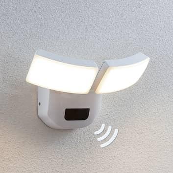 LED-utomhusvägglampa Nikias, sensor, 2 ljuskällor