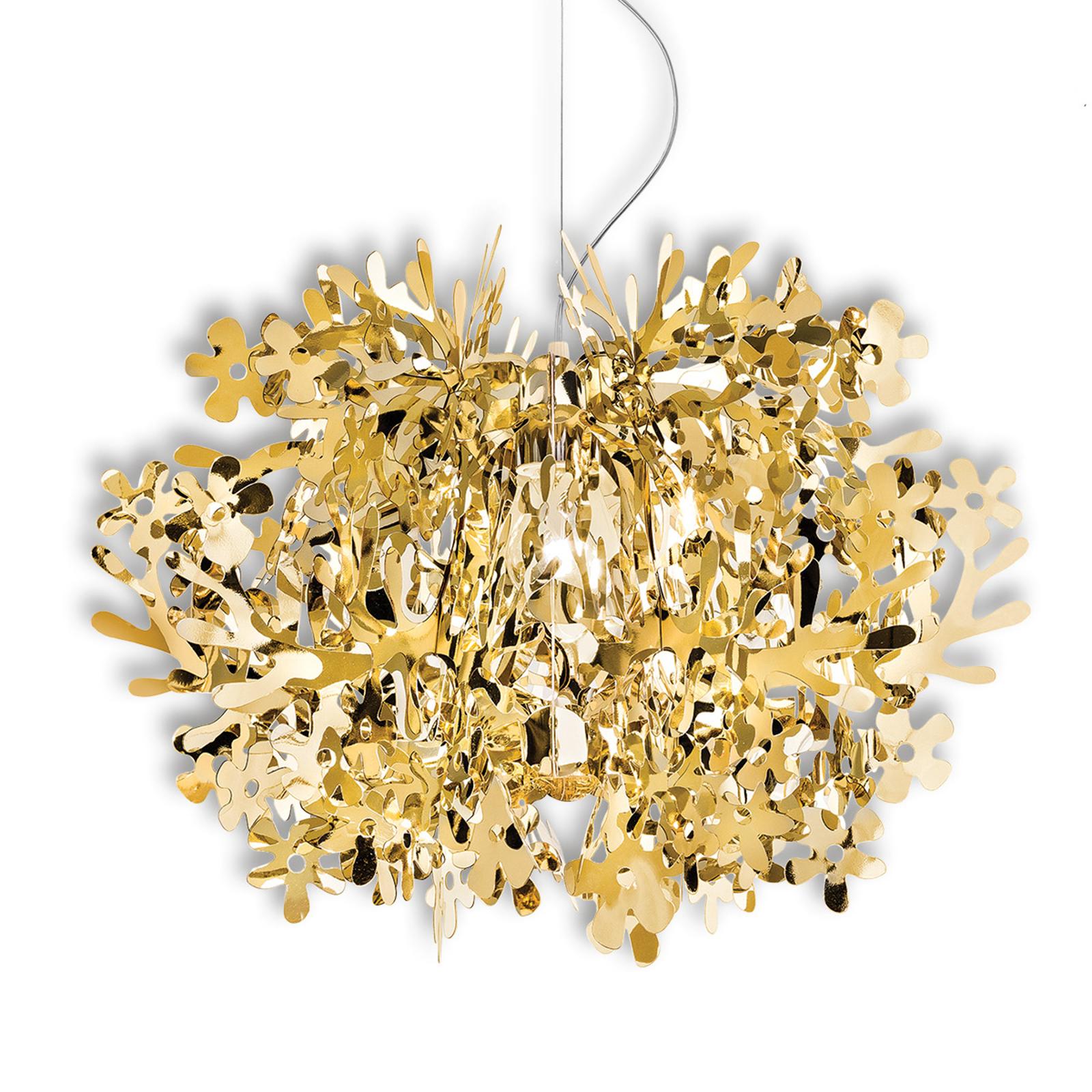 Slamp Fiorella - Designer-Pendellampe, gold