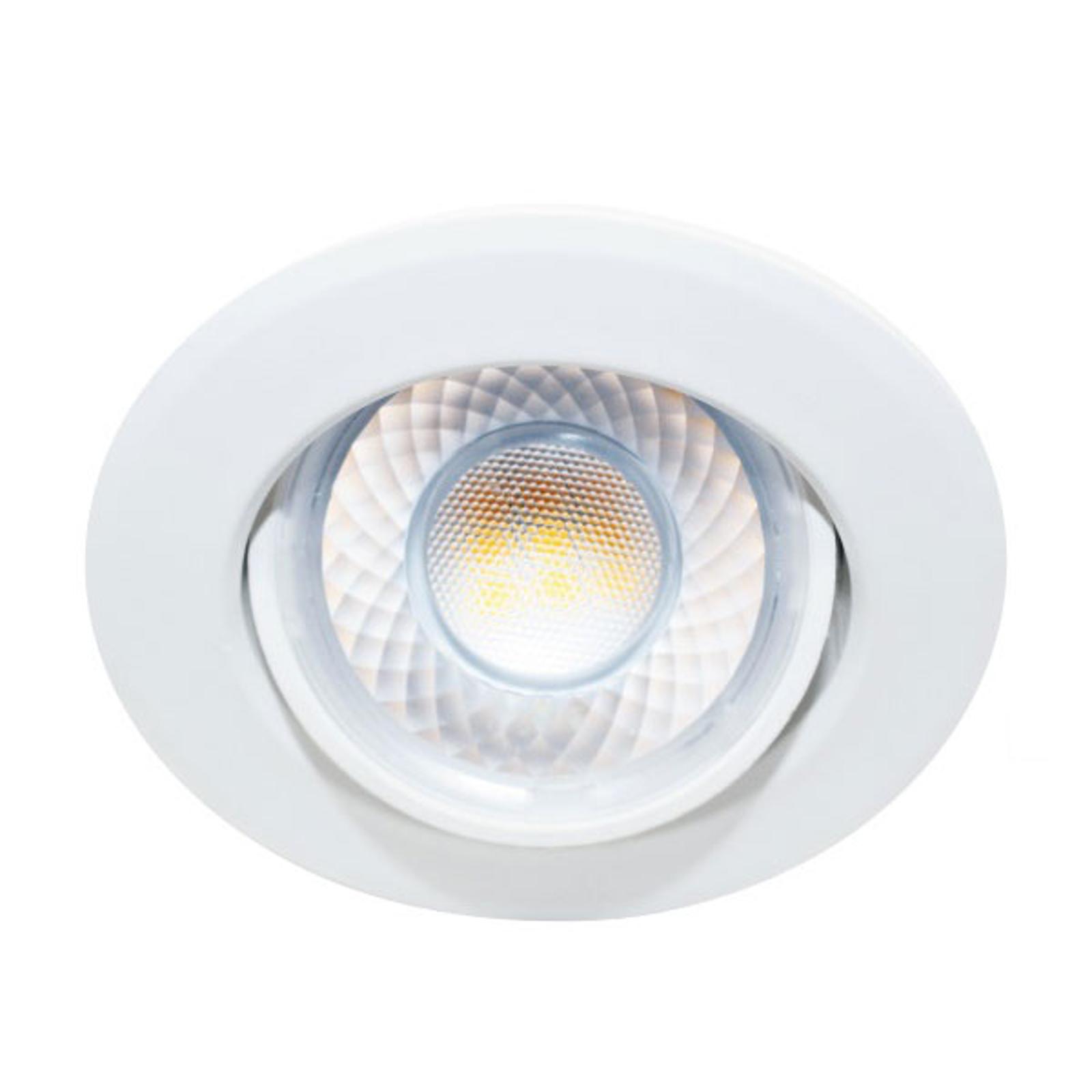 Spot enc. LED Dekto 7,8cm 38° 8W 240VA 2700K