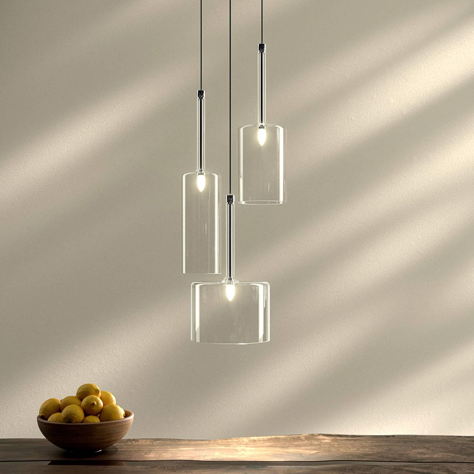 Spillray - 3-punktowa szklana lampa wisząca