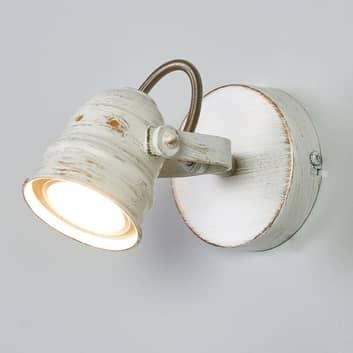 Weißer LED-Spot Leonor mit GU10-Lampe