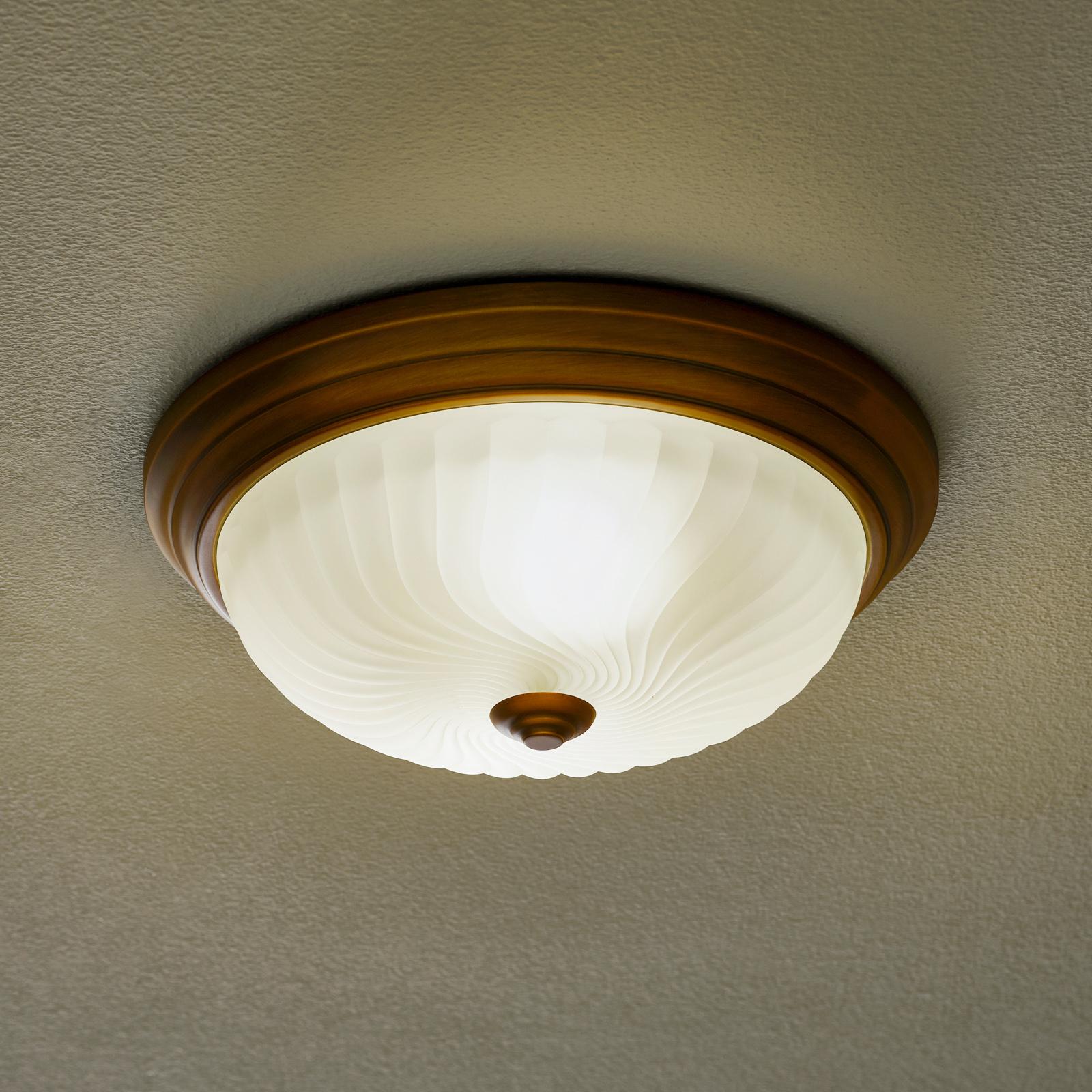 Klassisk rustikk taklampe 2 x 60 W