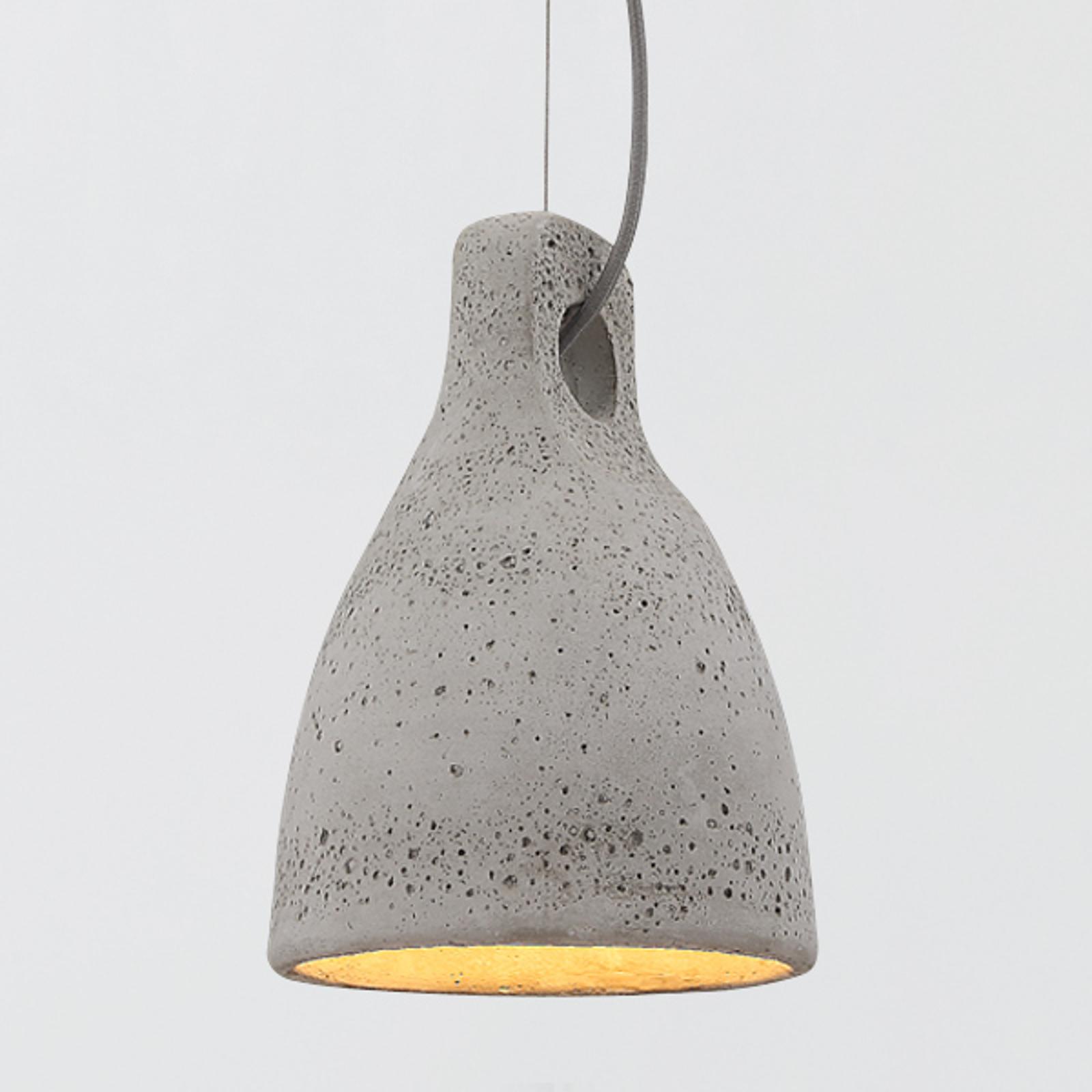 Betonowa lampa wisząca LENNA, szara