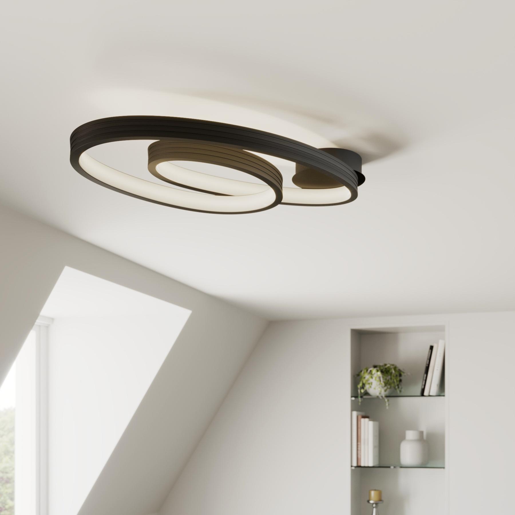 Lucande Bronwyn lampa sufitowa LED, 72,5 cm