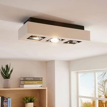 Plafonnier LED à 3 lampes Vince en blanc