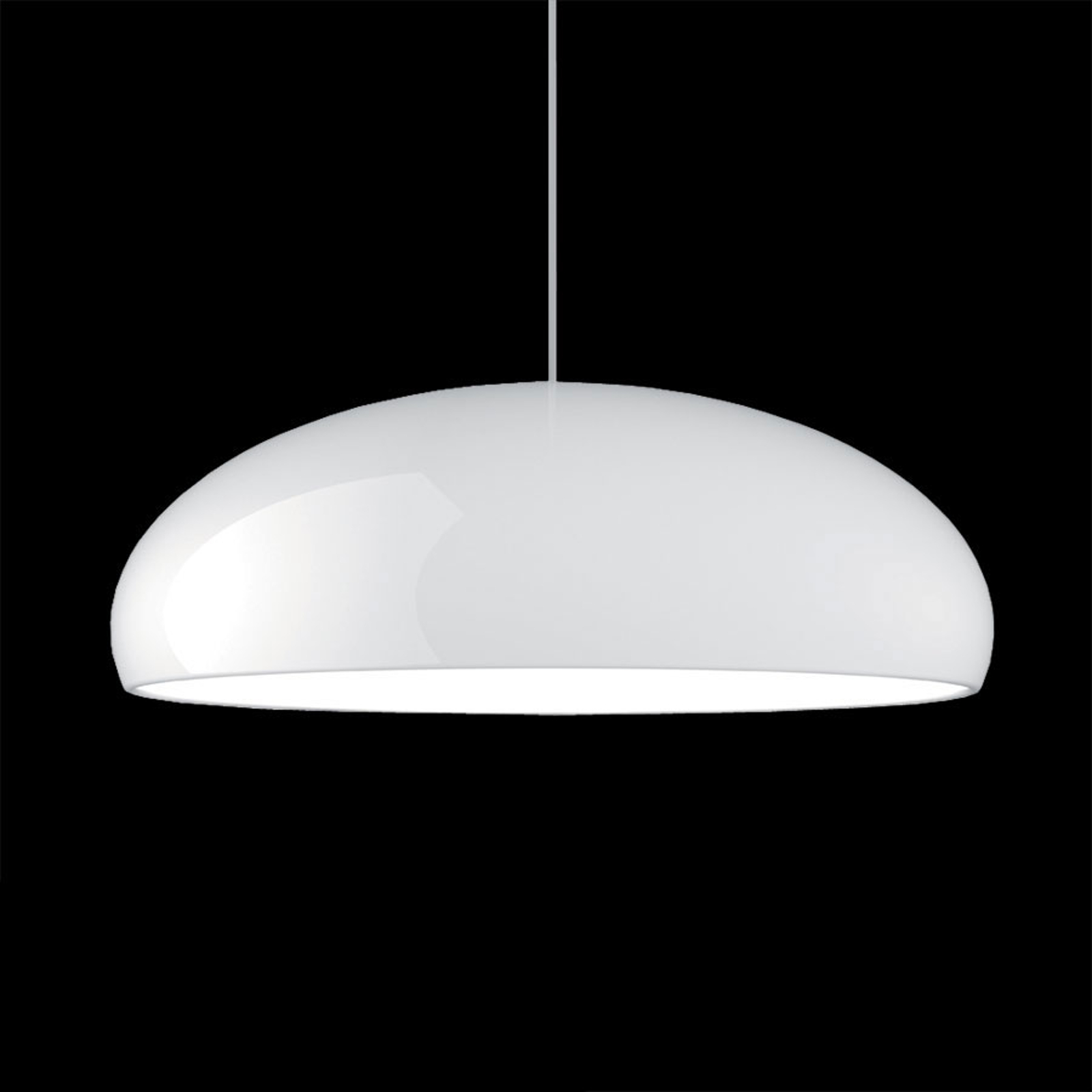Chique hanglamp Pangen, wit