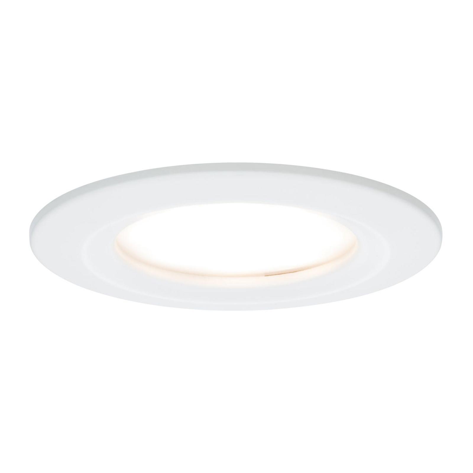 Paulmann 3-pakning LED-spot Slim Coin, dimbar hvit