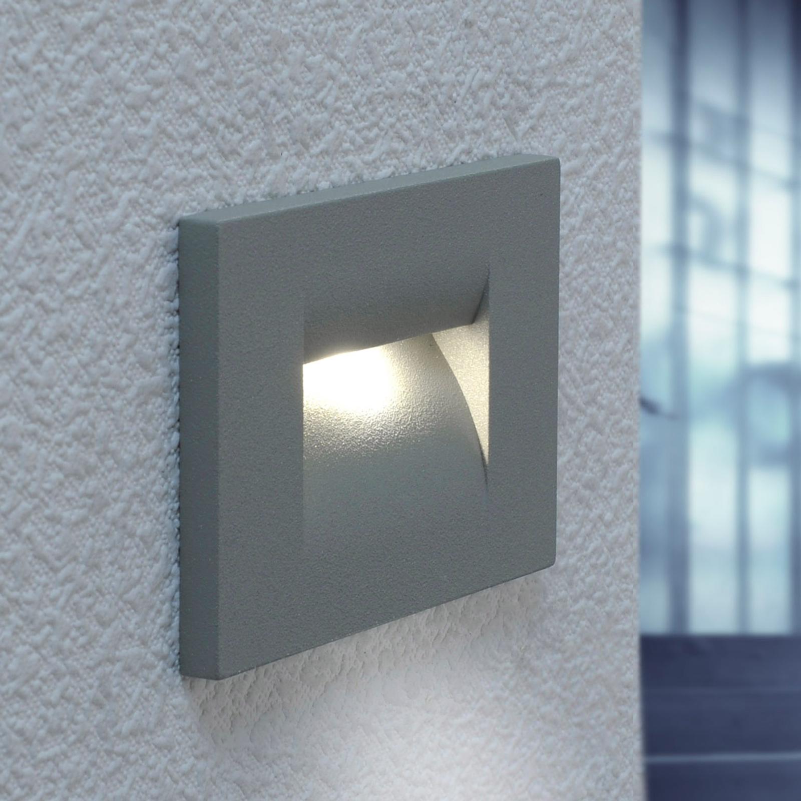 Applique encastrée LED Nevrin gris argenté