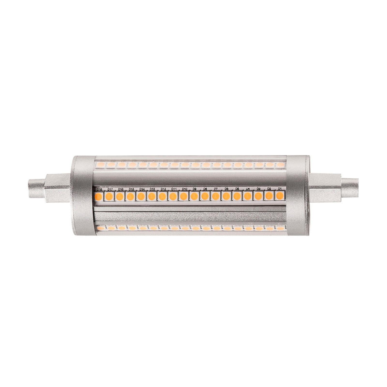 SLV LED-pære R7s QT-DE12 118 mm 14W 3000K dimbar