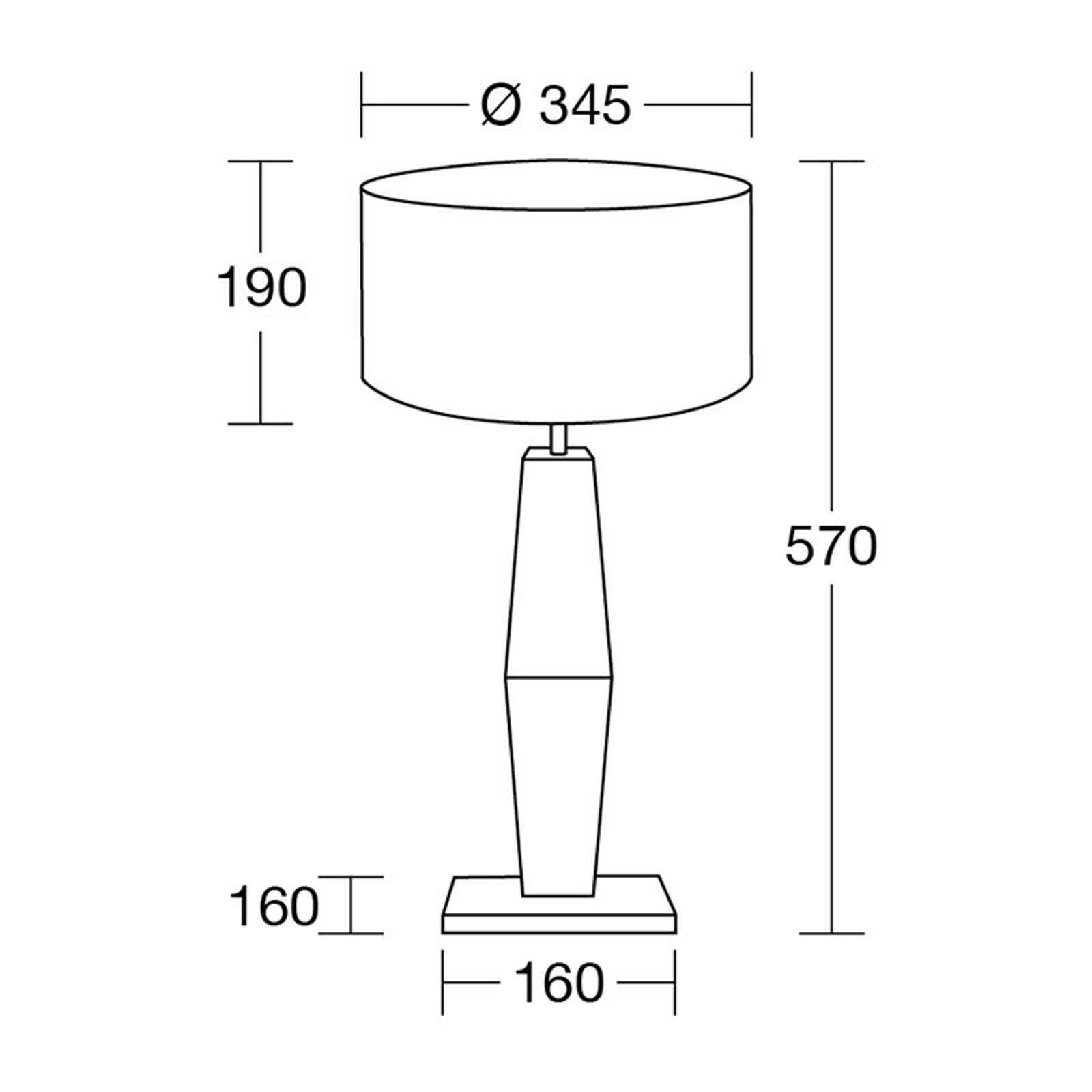 HerzBlut Marla lampe à poser, chêne huilé 57cm