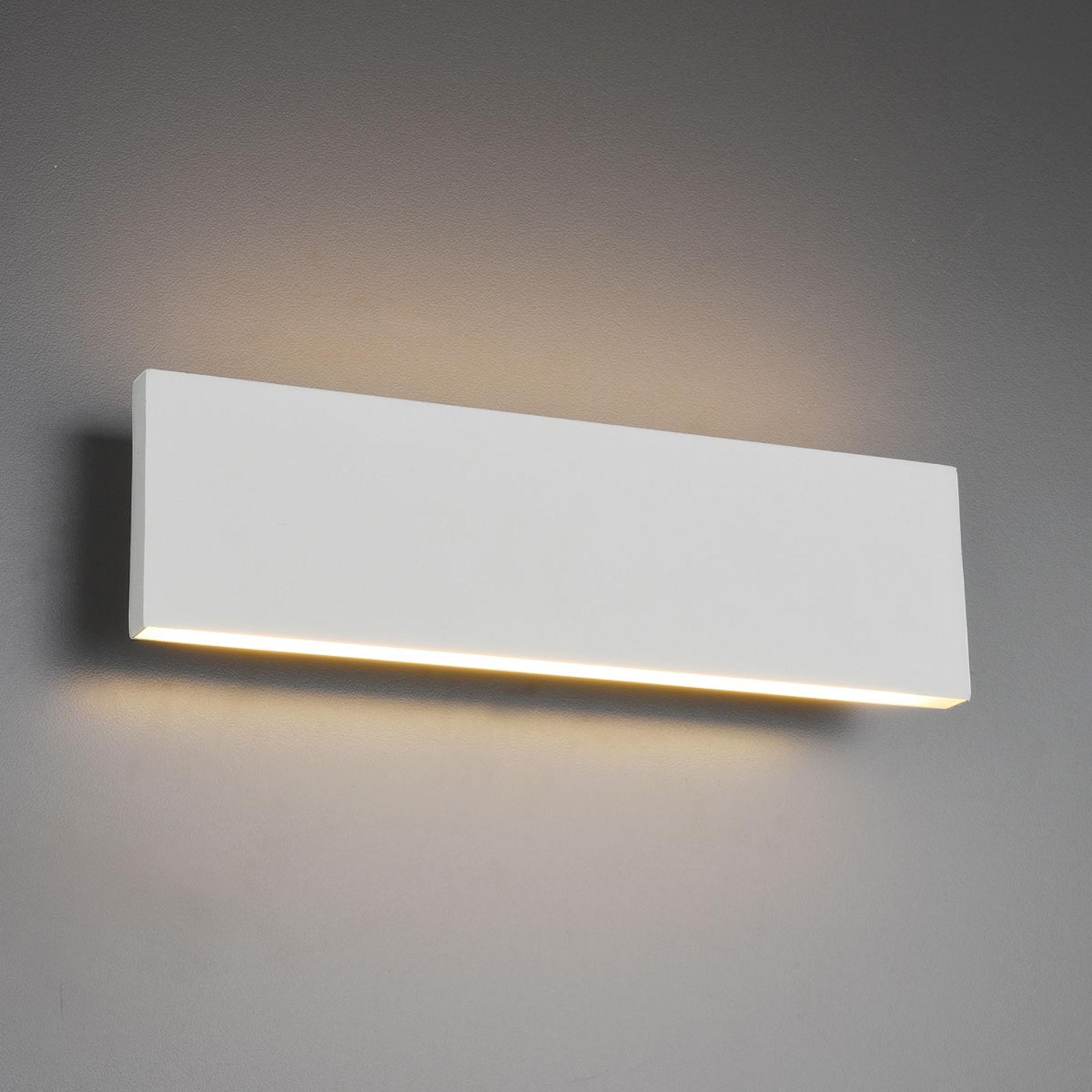 LED-Wandlampe Concha 28 cm, weiß