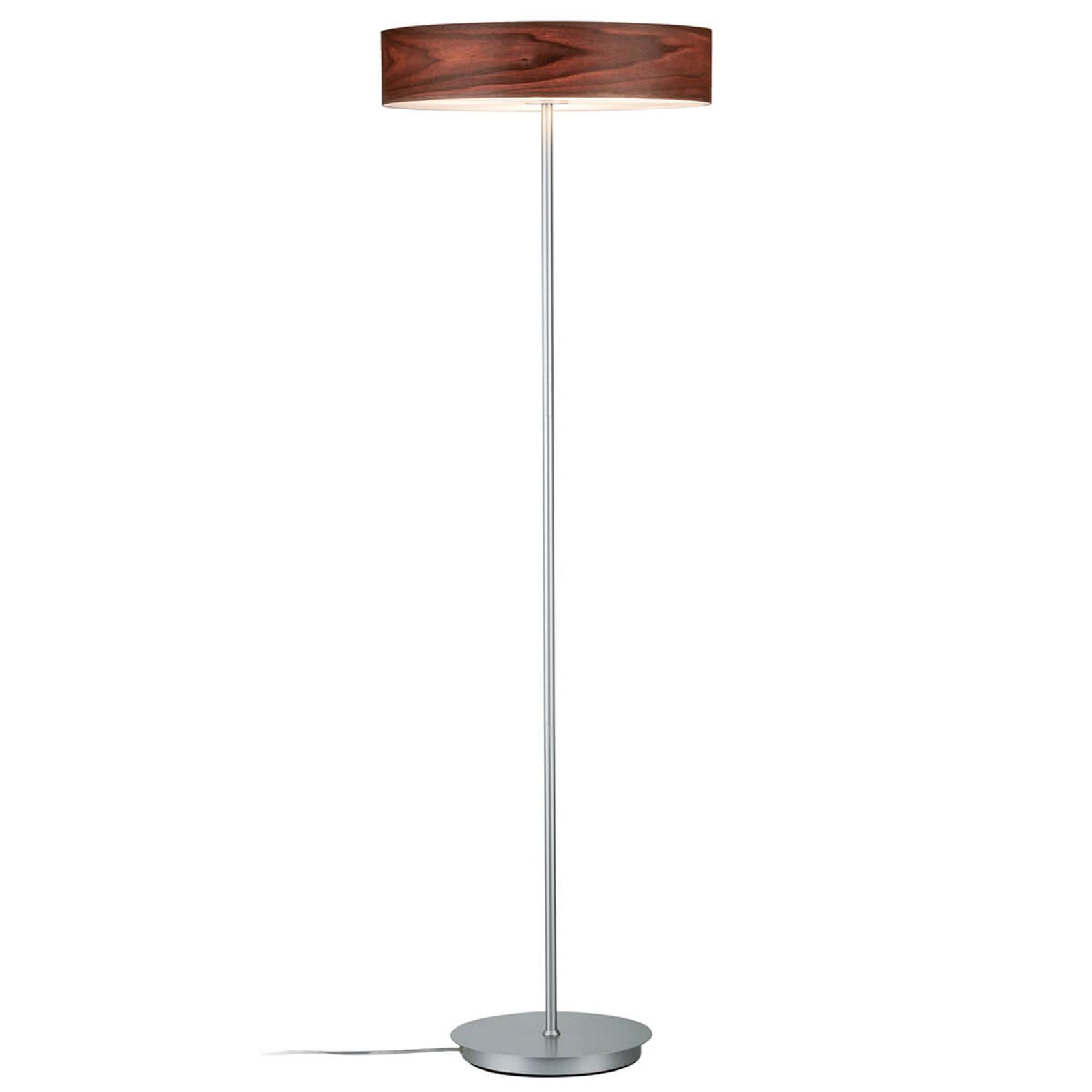 Lampadaire moderne Liska avec abat-jour en bois