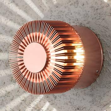 LED-Außenwandlampe Monza Strahlen rund kupfer 9cm