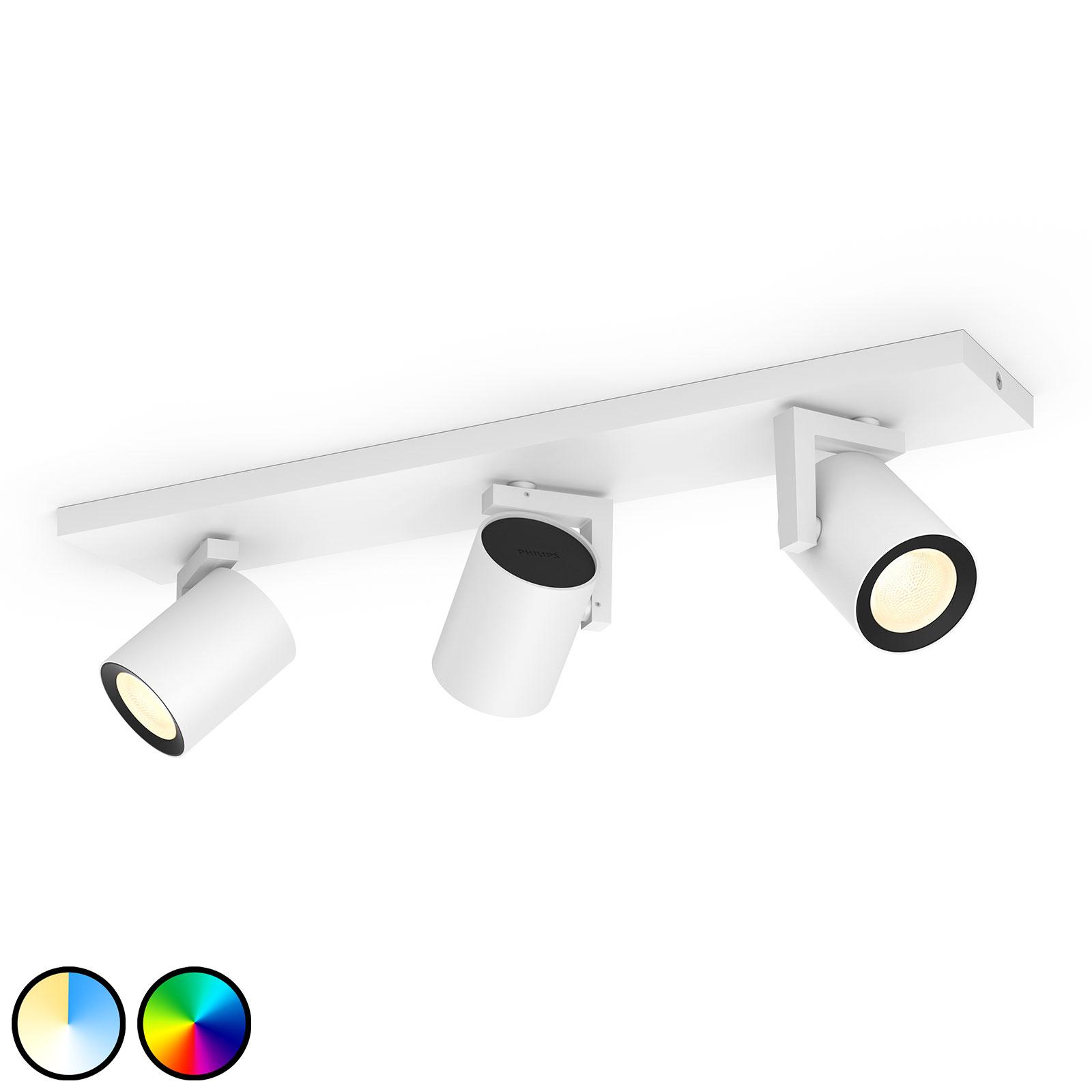 Philips Hue Argenta foco LED, 3 luces, blanco