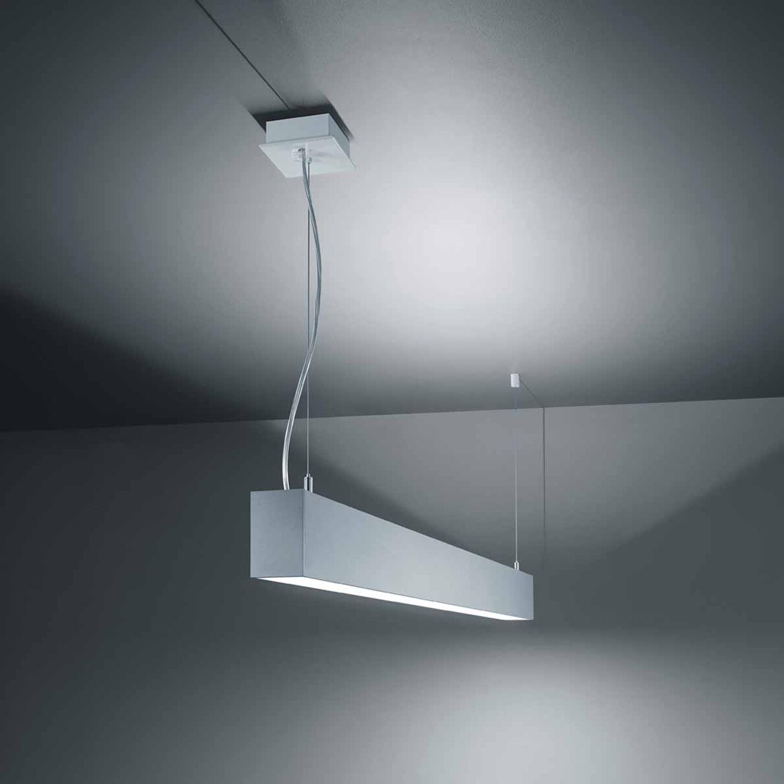 Suspension LED S55 efficace en gris argenté