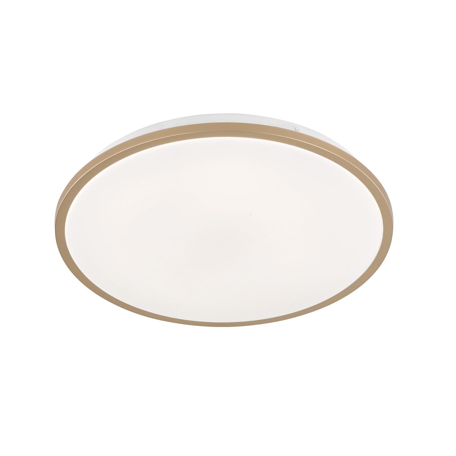 LED-taklampe Jaso BS, Ø 39 cm, gull
