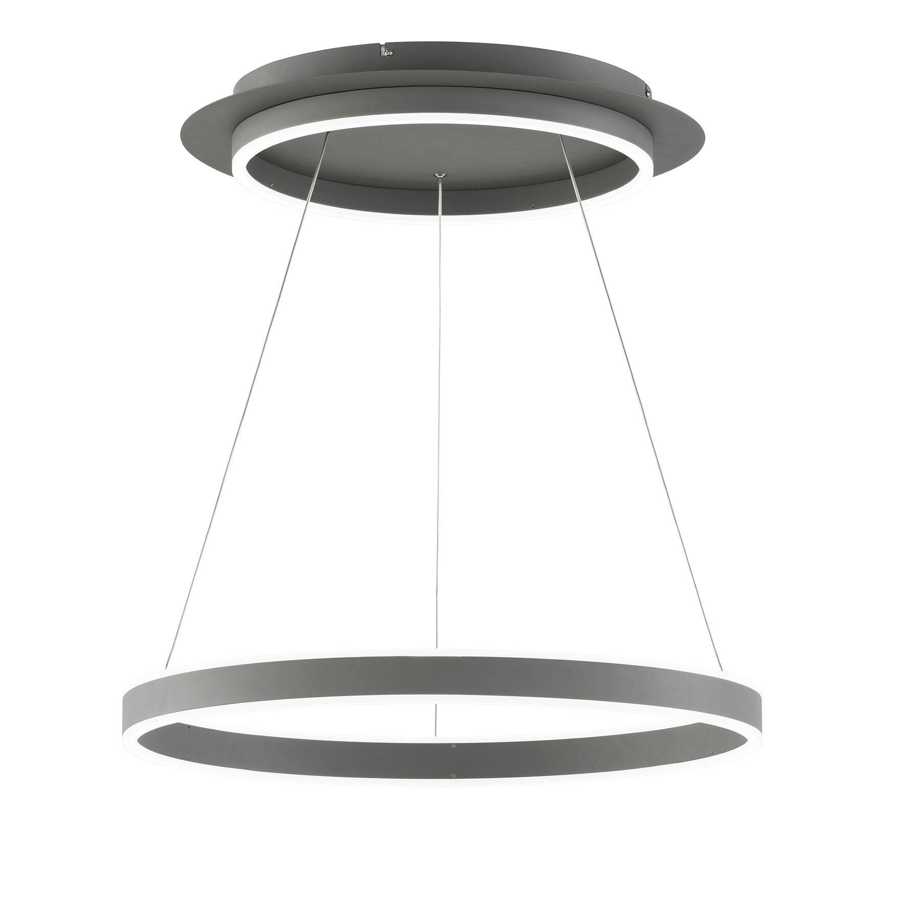 LED hanglamp Kemi, met afstandsbediening, rond