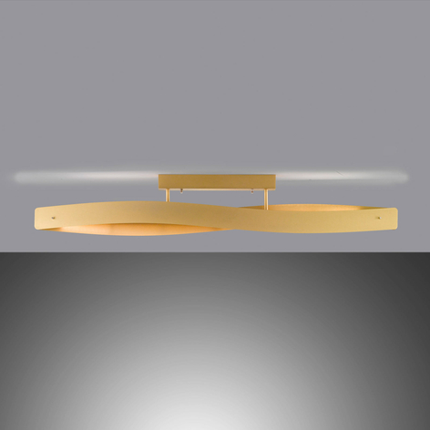 Lucande Lian plafonnier LED, laiton mat