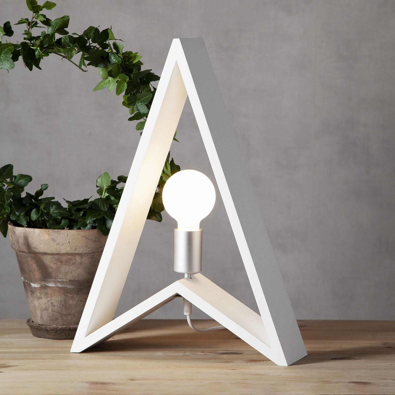Sfeerlamp Kil van hout, wit