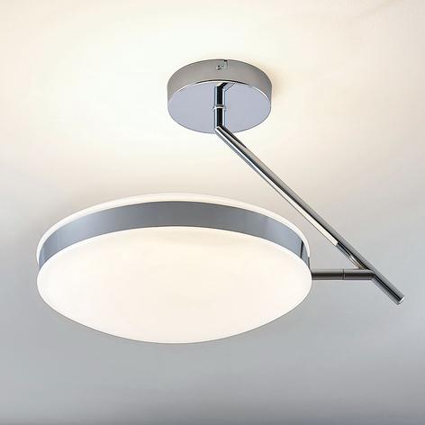 LED-taklampa Niklas med kromring