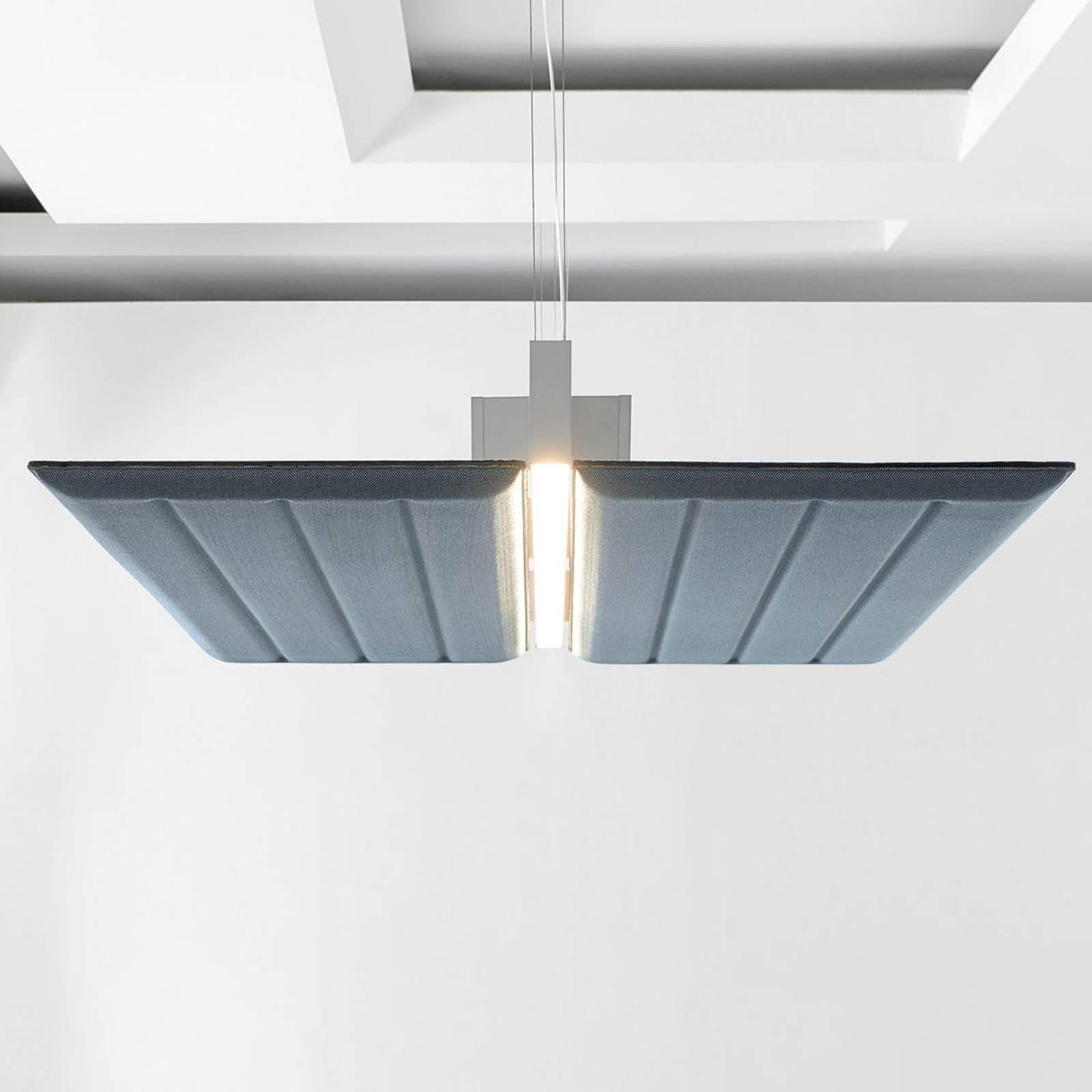 Luceplan Diade lampa wisząca pozioma 120cm błękit