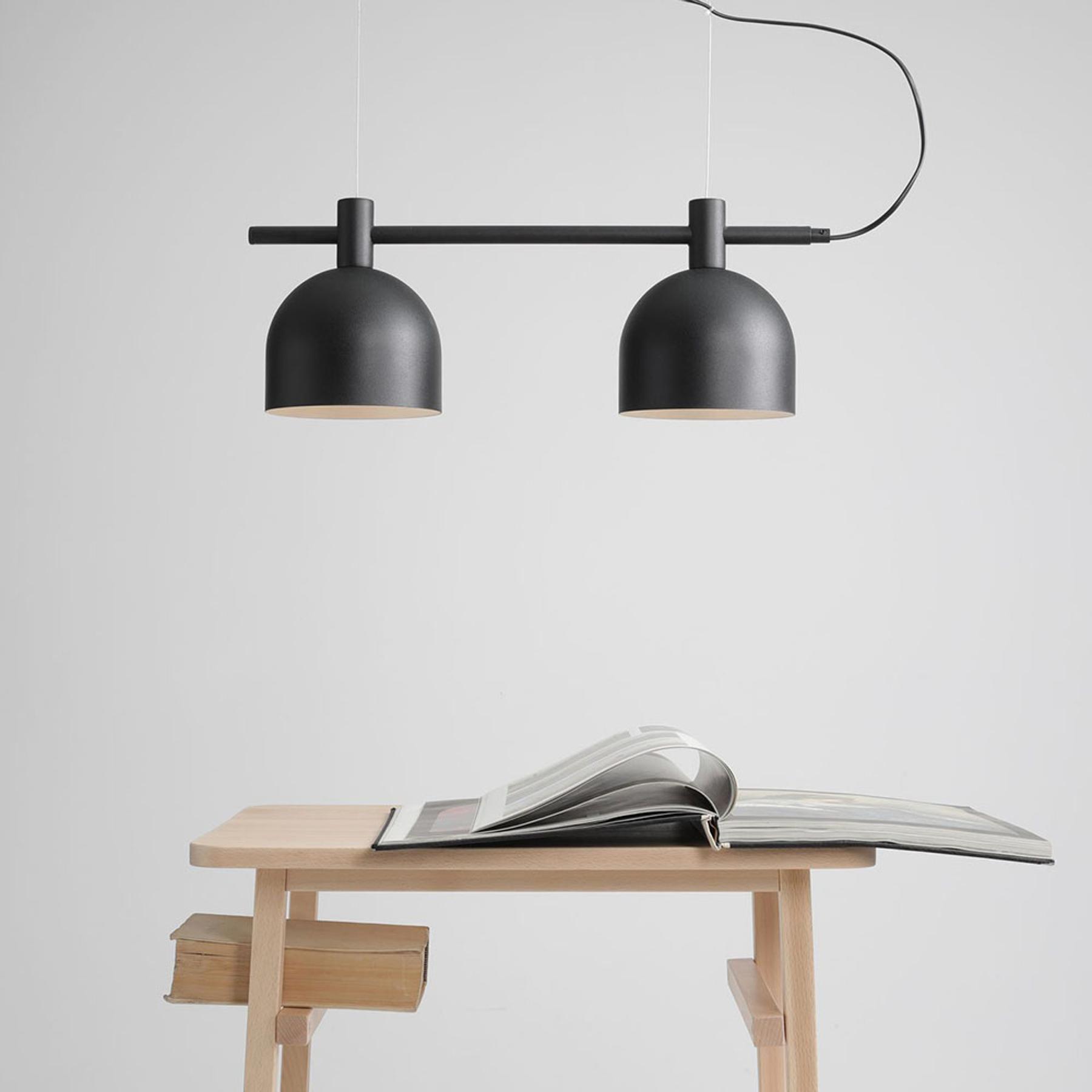 Lampa wisząca 976, 2-punktowa, czarna
