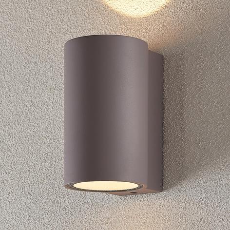 LED-ulkoseinävalaisin Katalia betoni 2-lamppuinen