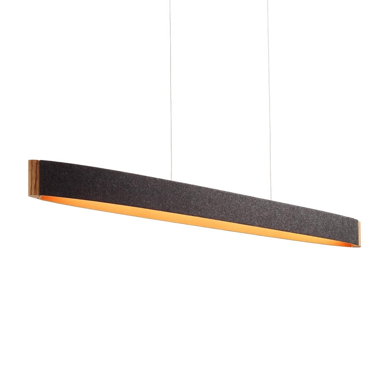 Zep 13 LED-Hängeleuchte Wollfilz graphit-orange