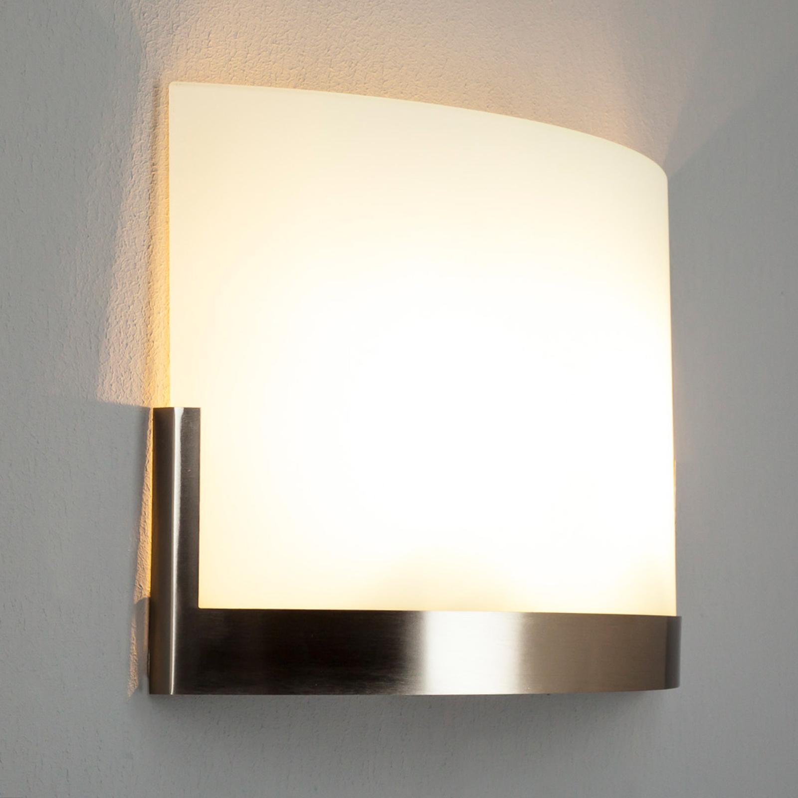 Nástěnné světlo Karla s kovovým prvkem šířka 35 cm