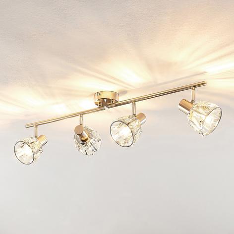 Lindby Kosta lámpara de techo, 4 luces, níquel