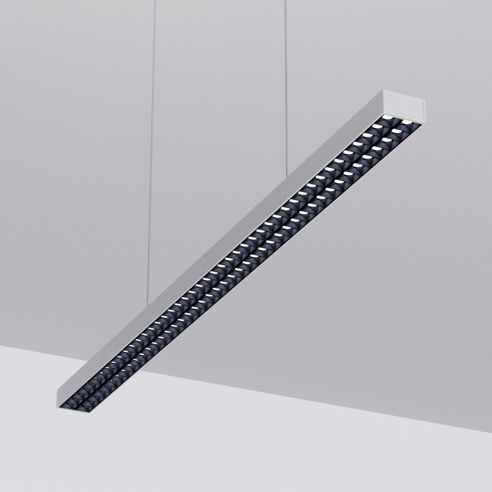 LED-Pendellampe Jolinda fürs Büro, silber