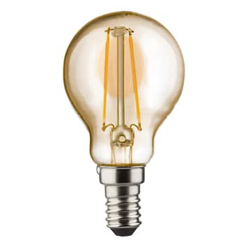 E14 2W 820 LED-Tropfenlampe gold