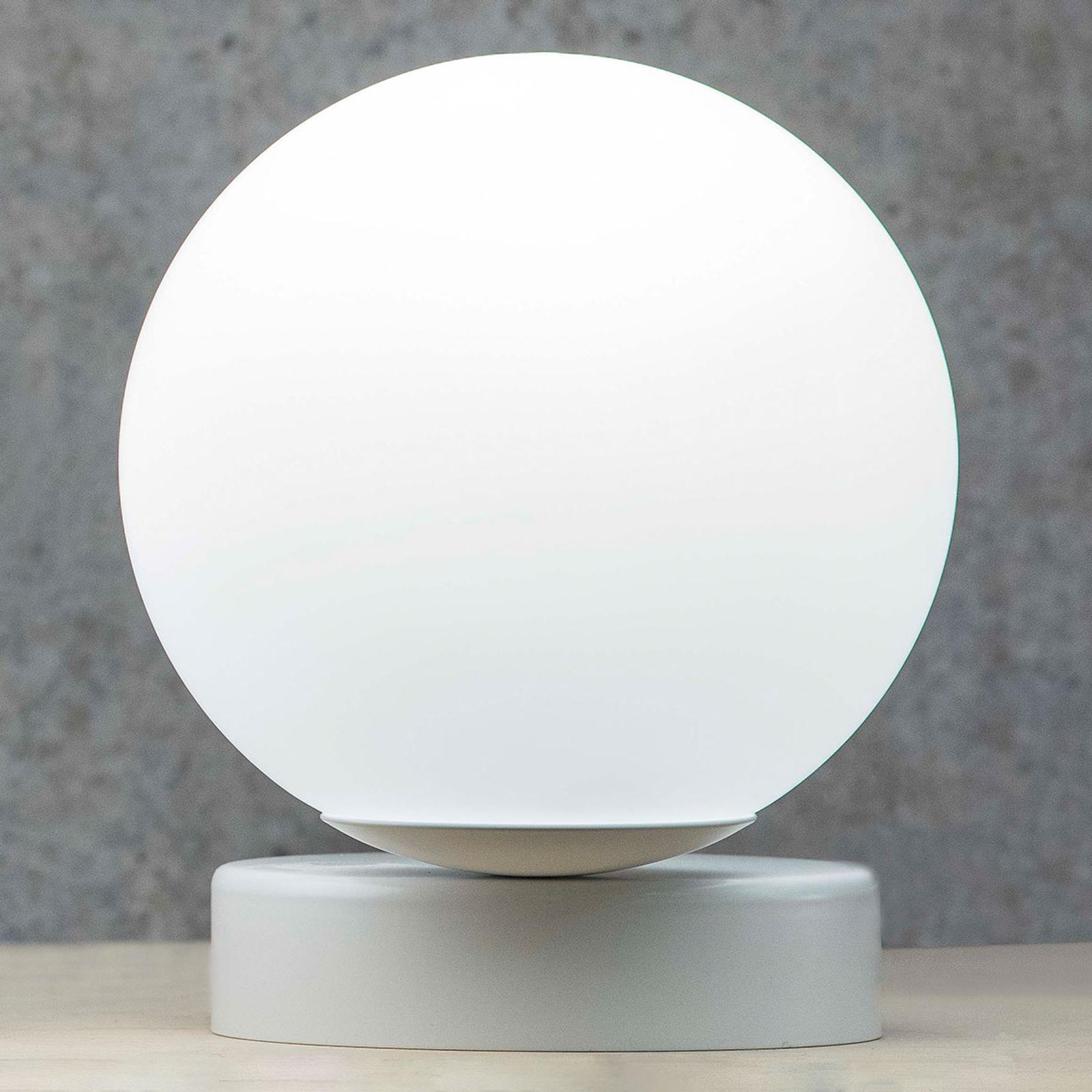 Lampada da tavolo Lumi rotonda, bianco