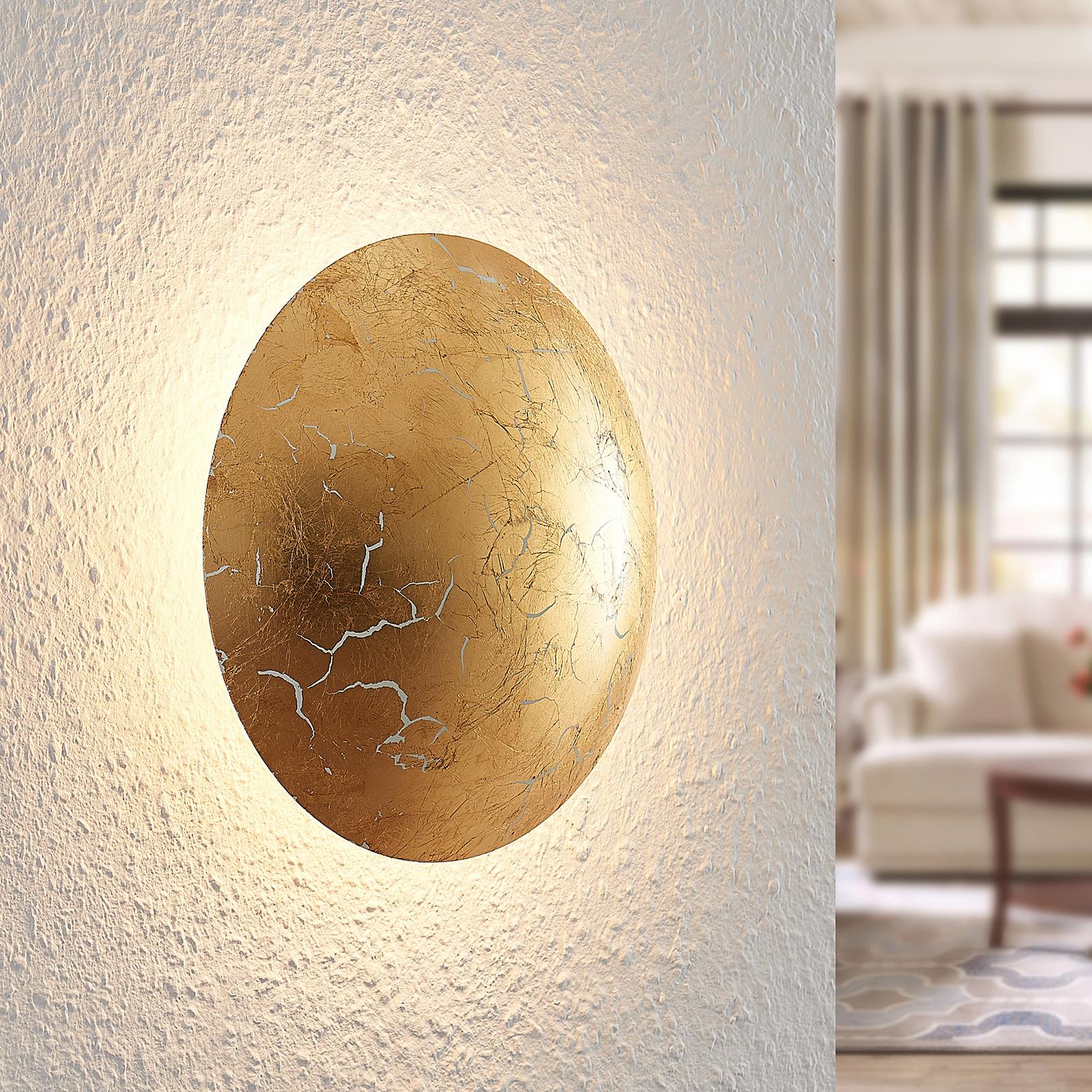 Lindby Illuma LED-vegglampe, gull