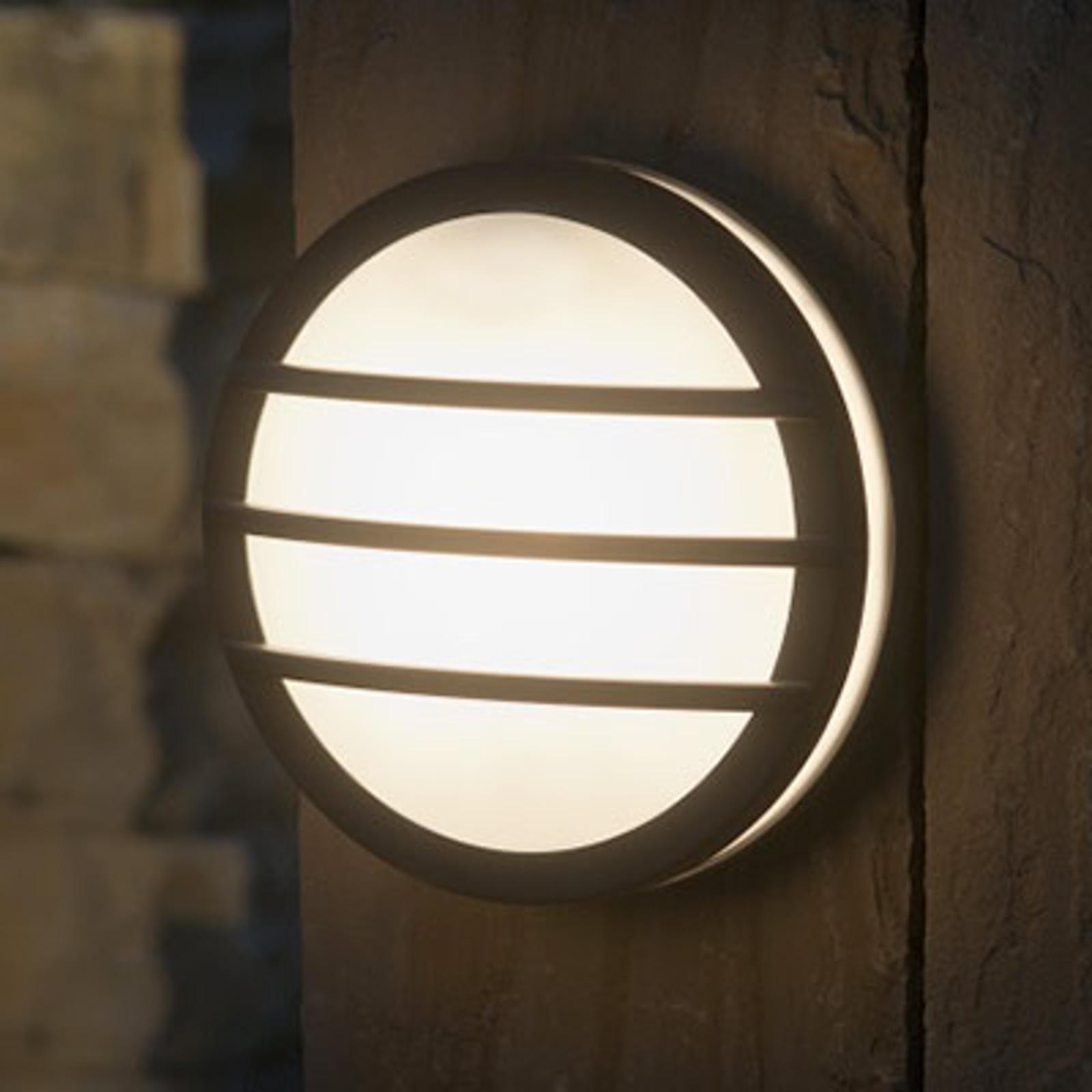 Rund udendørs væglampe Nandin