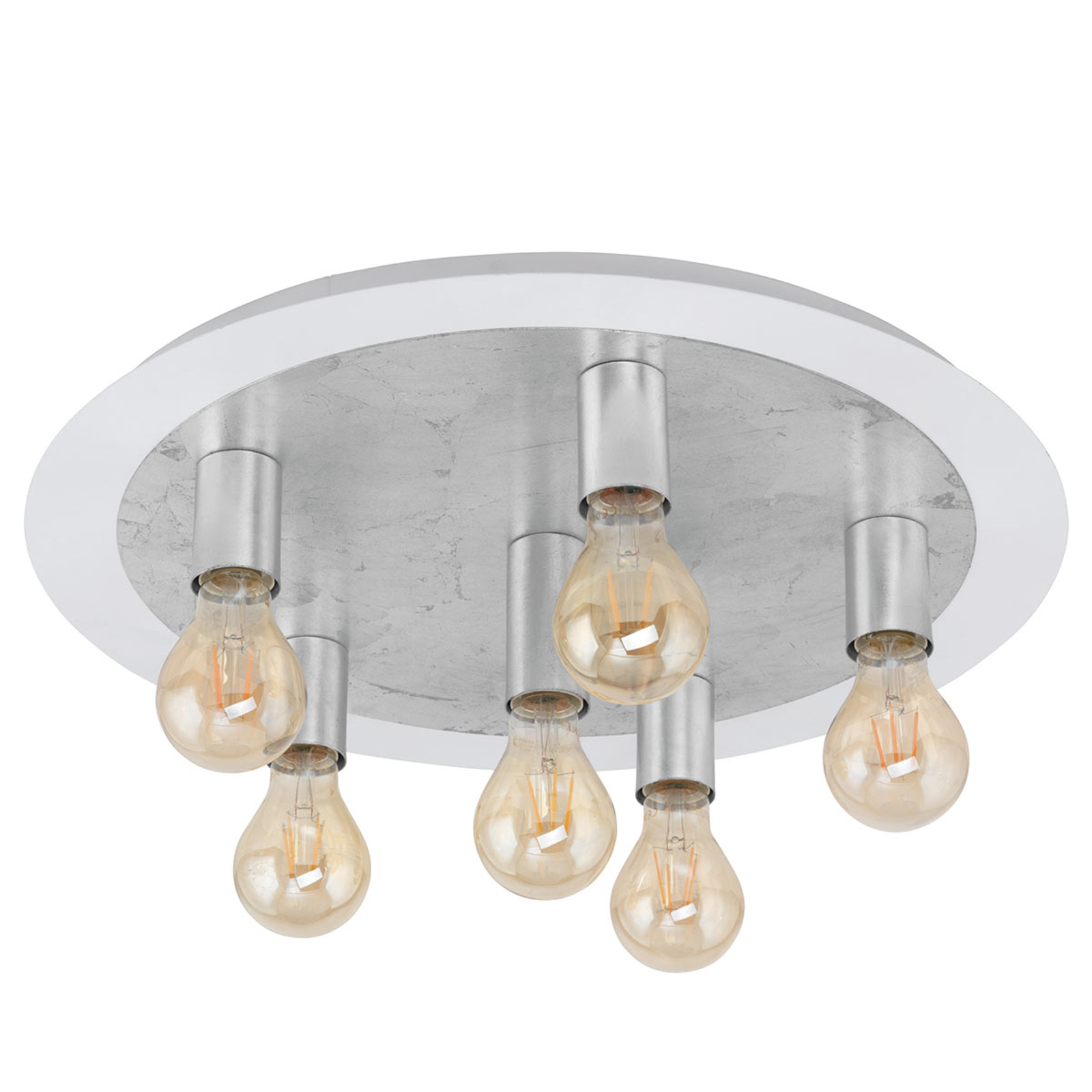 LED plafondlamp Passano 6-lamps zilver