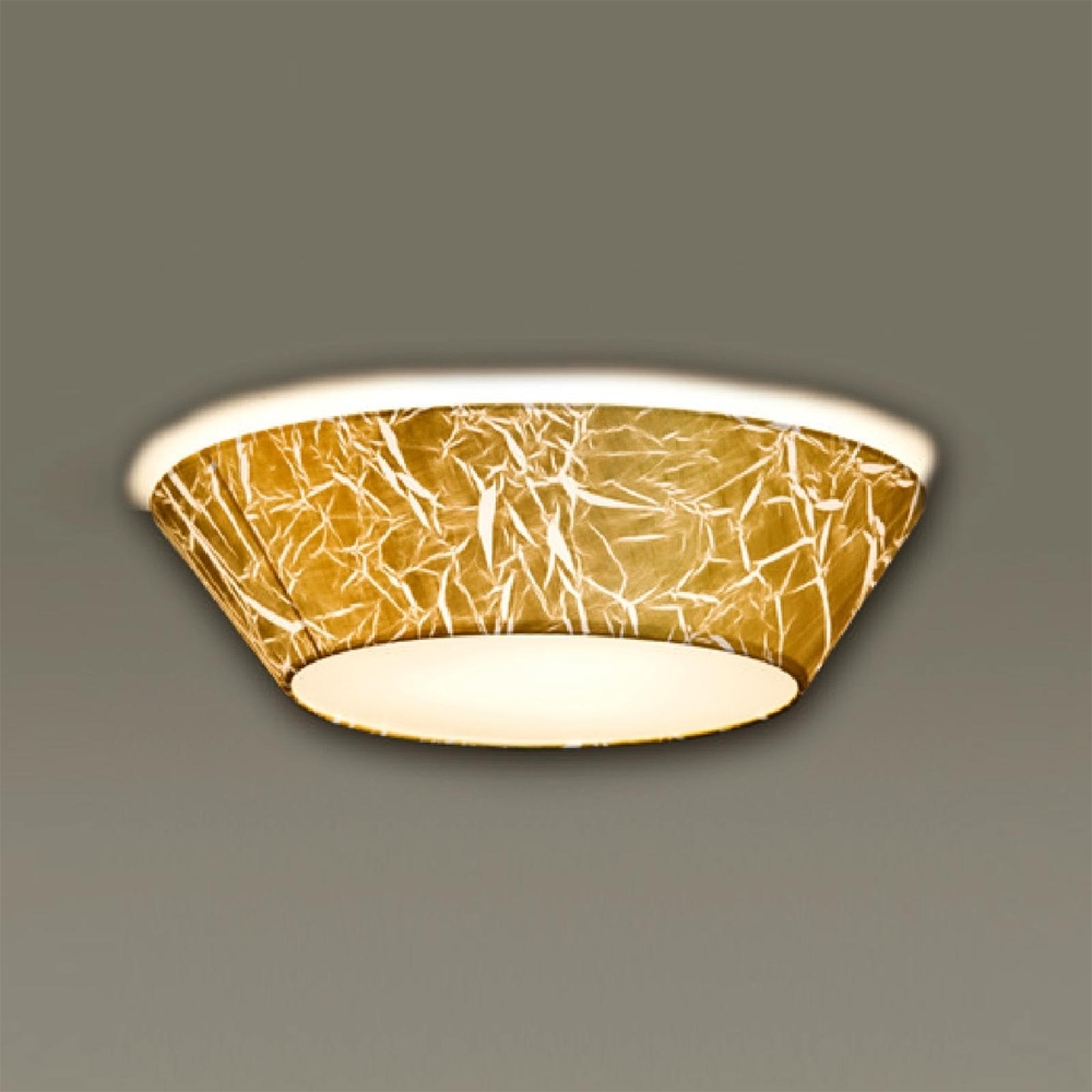 Plafonnier Arius avec feuille d'or 45 cm