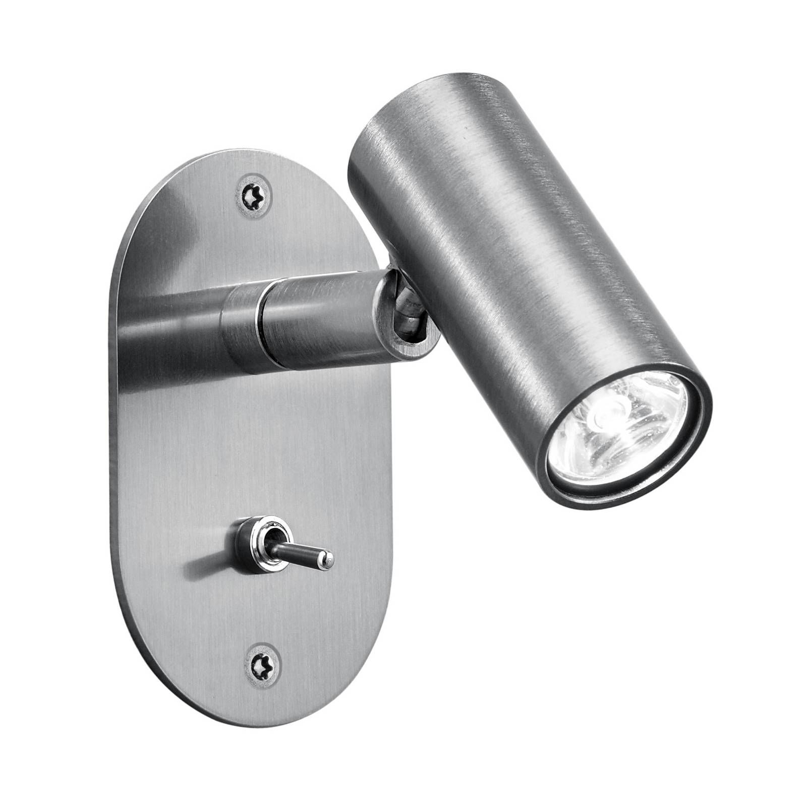 Baulmann 64.506 LED-Wandleuchte, rund, nickel matt