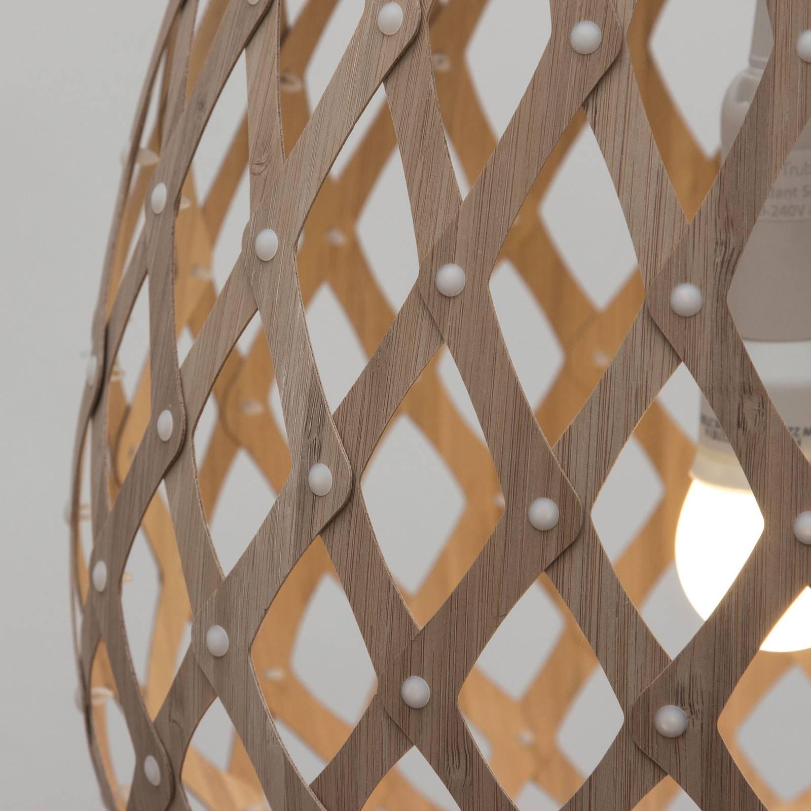 david trubridge Koura Pendellampe 50 cm caramel