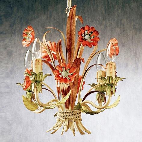 Blominspirerad hänglampa NOVARA