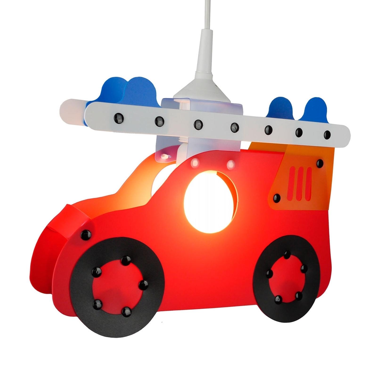 Hengelampe Brannbil til barnerommet