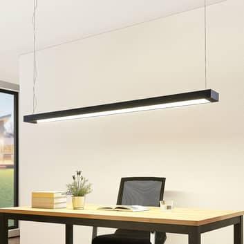 Arcchio Cuna LED sospensione, nero, angolare 162cm