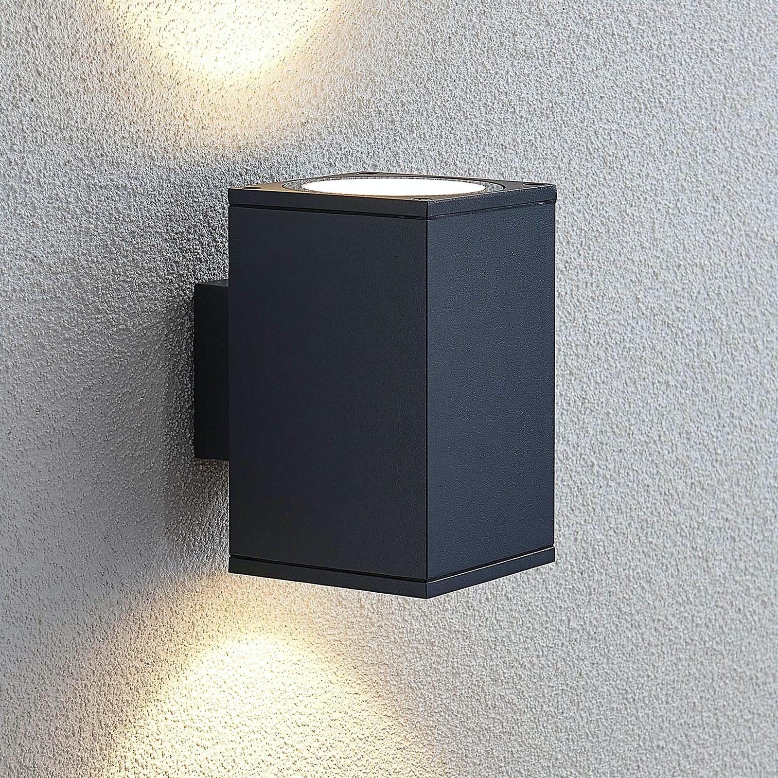 LED-Außenwandlampe Mekita, zweiflammig