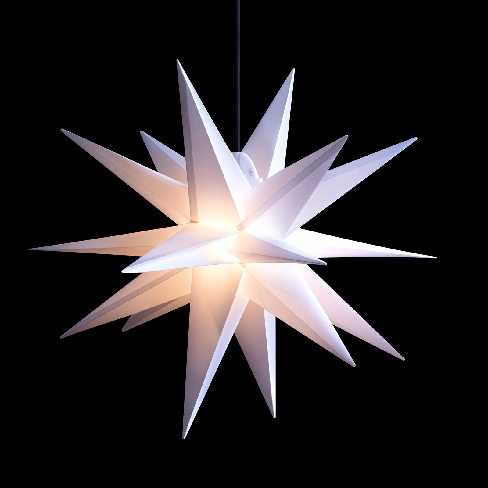 Stella LED da esterni, 18 punte, bianco, Ø 55 cm