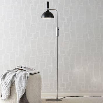 Lámpara de pie Larry moderna, regulador rotativo