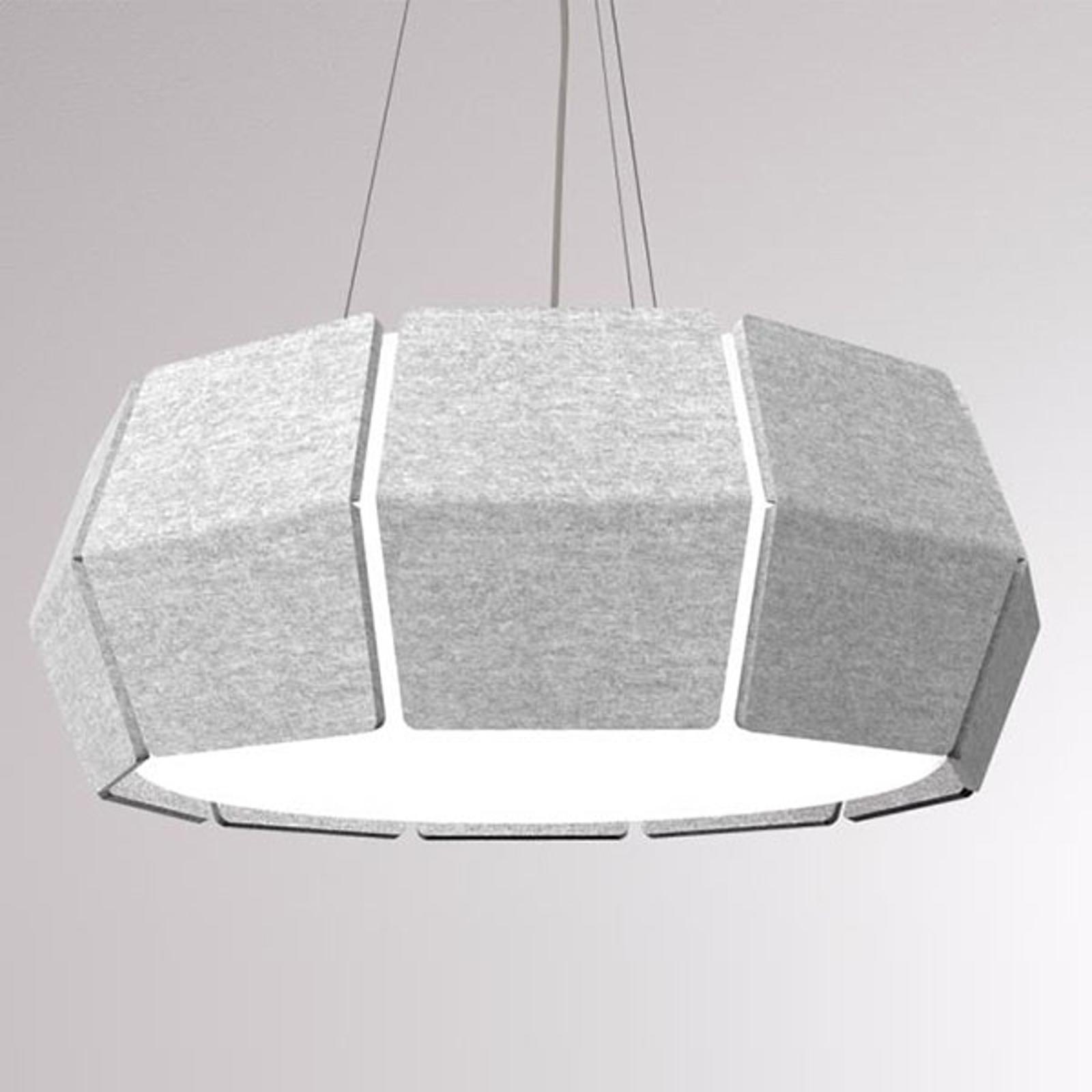 LOUM Decafelt lampa wisząca LED szara Ø 76 cm